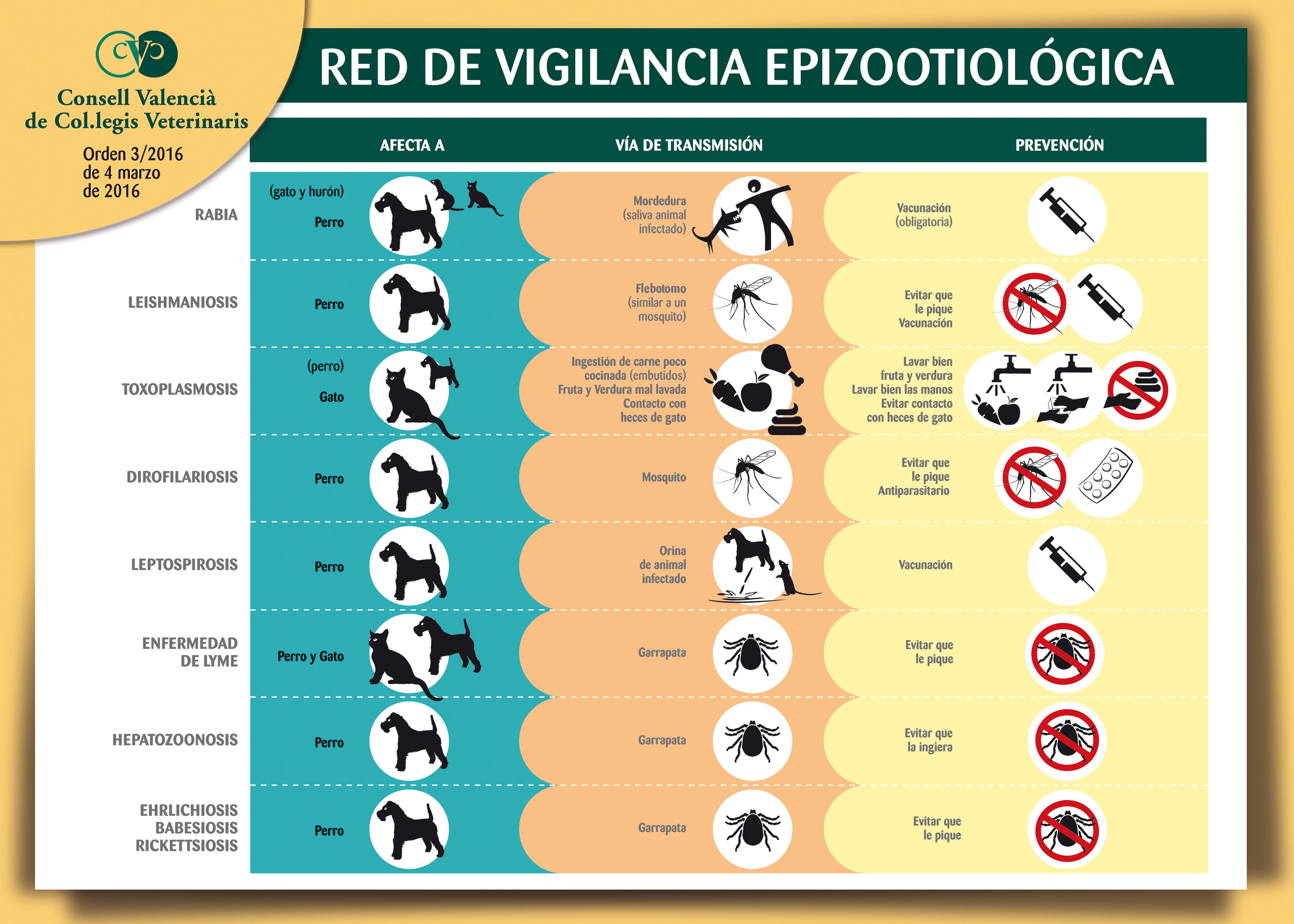 El CVCV edita 15.000 dípticos y pósters de la Red de Vigilancia Epizootiológica